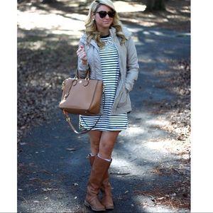 GAP striped shift dress